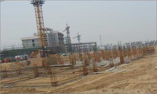 1m(1-9)轴基础柱模板安装